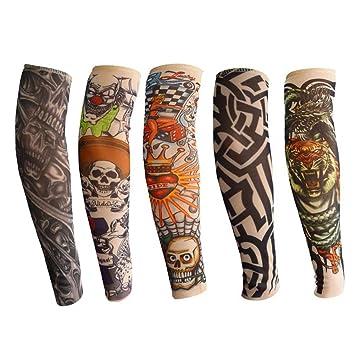 Mangas del brazo del tatuaje para niños, ANGTUO 5 PCS manga del brazo de protección