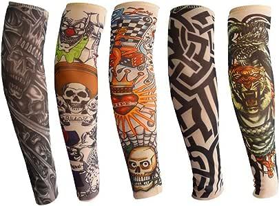 Mangas del brazo del tatuaje para niños, ANGTUO 5 PCS manga del ...
