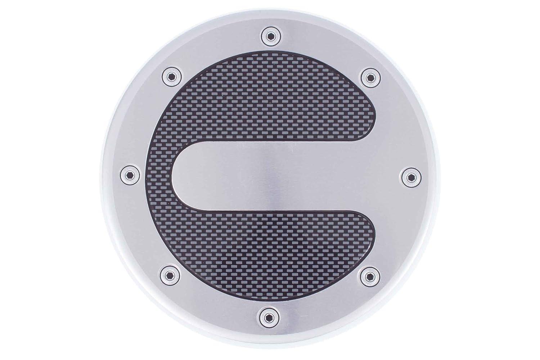 Rund /Ø 13,2cm Tuning Walser/® Tankdeckelblende Alu-Carbon-Look Tankdeckel Blende