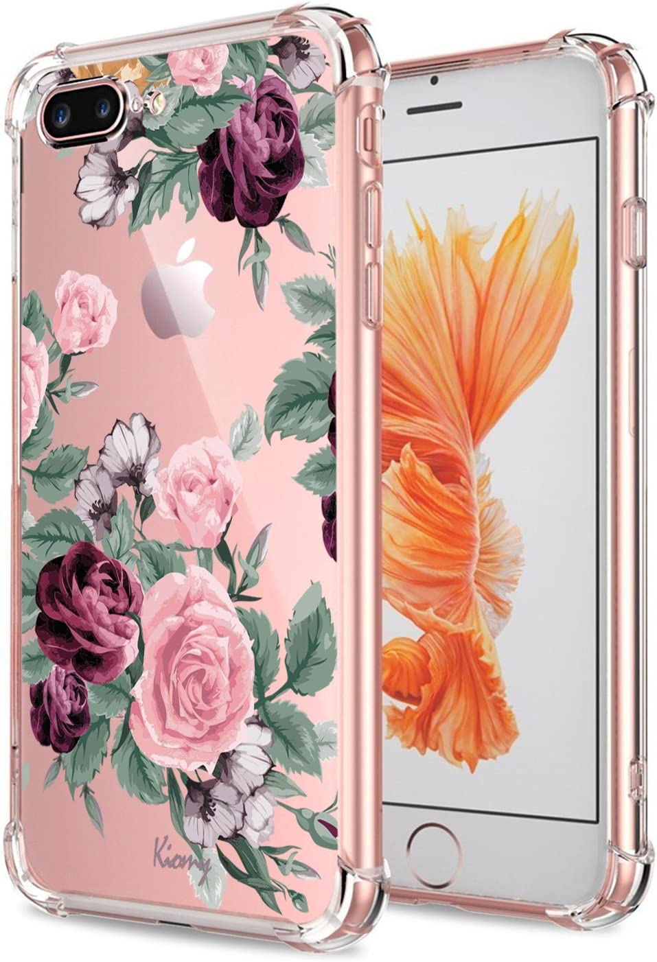 Amazon Com Iphone 7 Plus 8 Plus Case For Girls Floral Shockproof