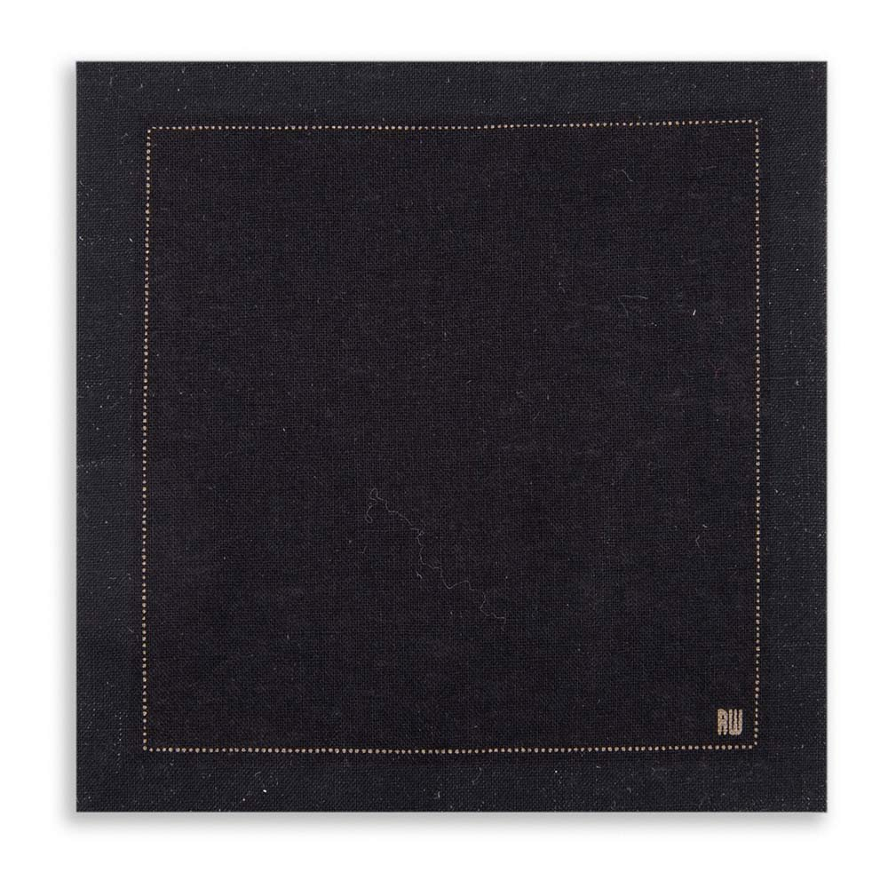 Napluxe Organic Cotton Cocktail Beverage Napkins - Soft and Durable 4.5'' x 4.5'' Black Paper Napkins - Disposable and Recyclable – 500-CT – Restaurantware