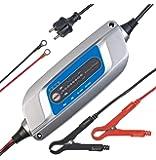 Lescars Batterieladegerät 12V: Kfz-Batterieladegerät mit 8 Batterielade- & Pflegestufen, 5 A, 12 Volt (Kfz-Batterieladegerät 12V)