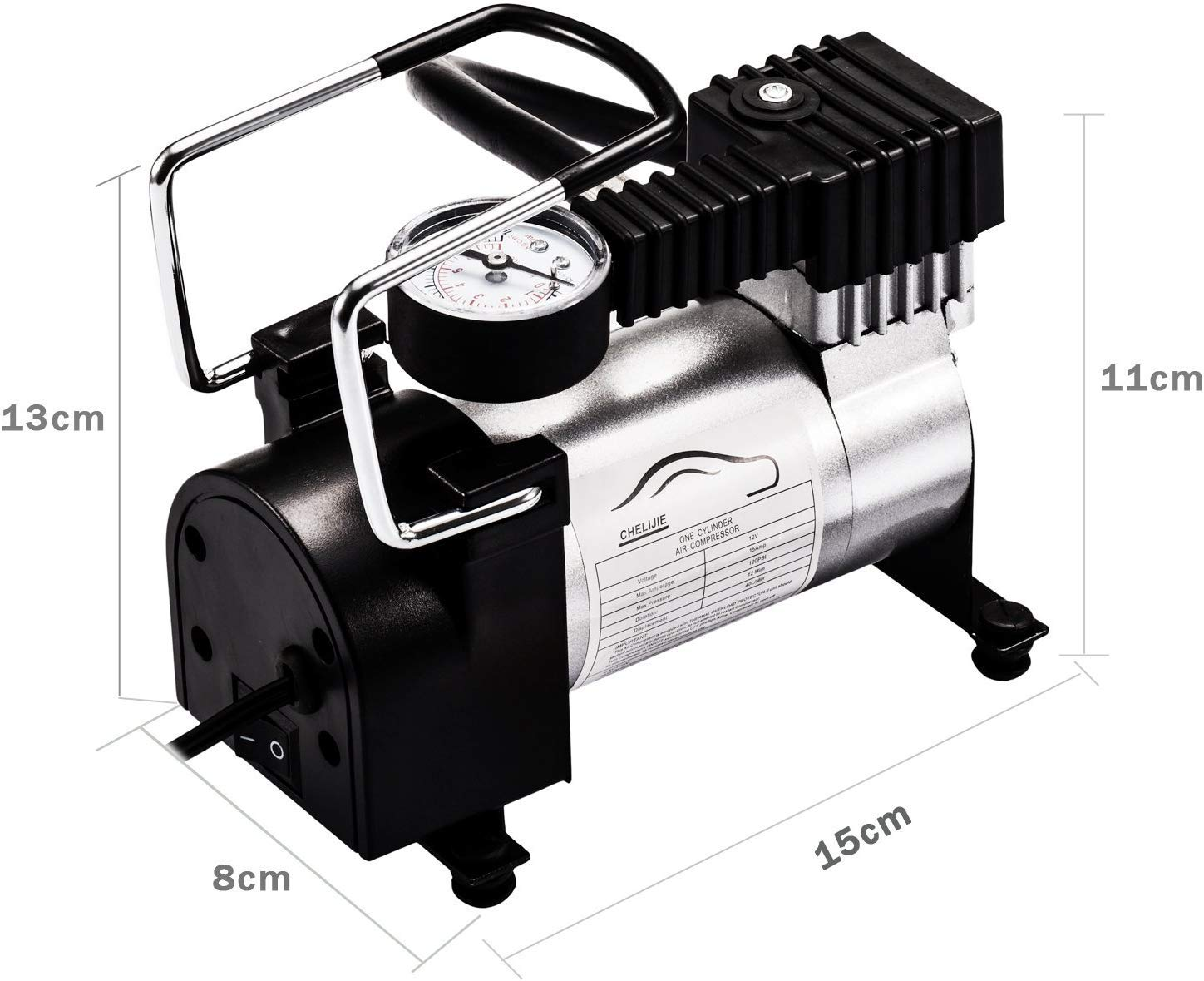 MULTI-USE HEAVY-DUTY CAR TYRE AIR COMPRESSOR INFLATOR 12V 140 PSI Air Pump Portable Air Compressors
