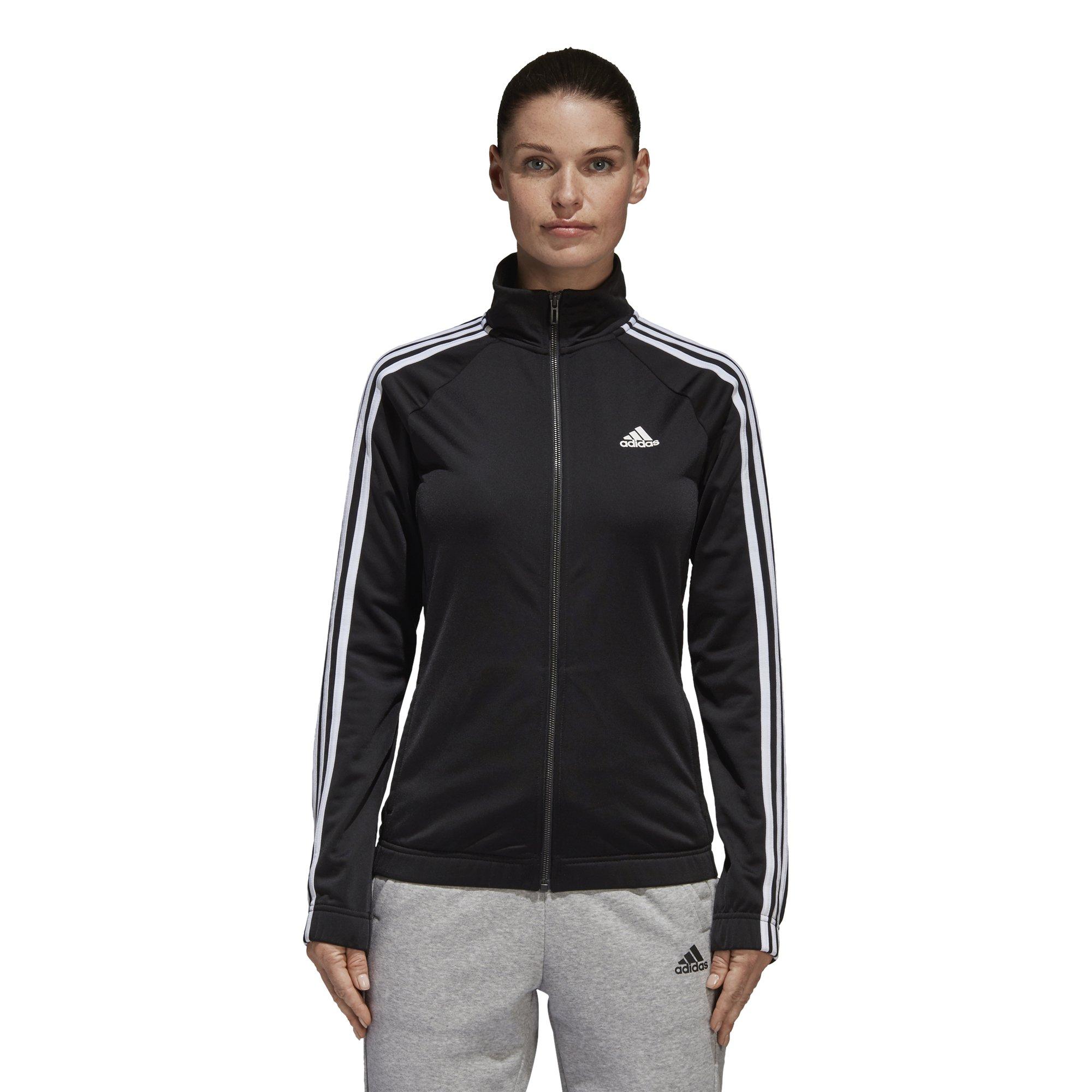 adidas Women's Designed-2-Move Track Jacket, Black/White, Medium