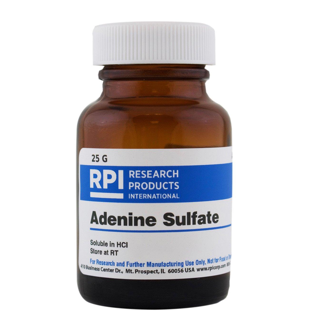 Adenine Sulfate [Adenine Hemisulfate Salt], 25 Grams by RPI (Image #1)