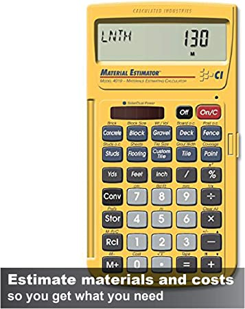 Calculated Industries 4019 Material Estimator Calculator | Finds Project  Building Material Costs for DIY\'s, Contractors, Tradesmen, Handymen and ...