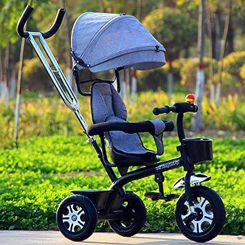 Triciclo de niños bicicleta 1-3-6 años cochecito de bebé bicicleta cochecito de