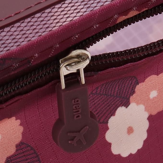 Amazon.com: eDealMax Patrón Flor al aire Libre Con cremallera Cosméticos Ropa de equipaje de embalaje Almacenamiento Bolsa de viaje DE 6 en 1: Home & ...