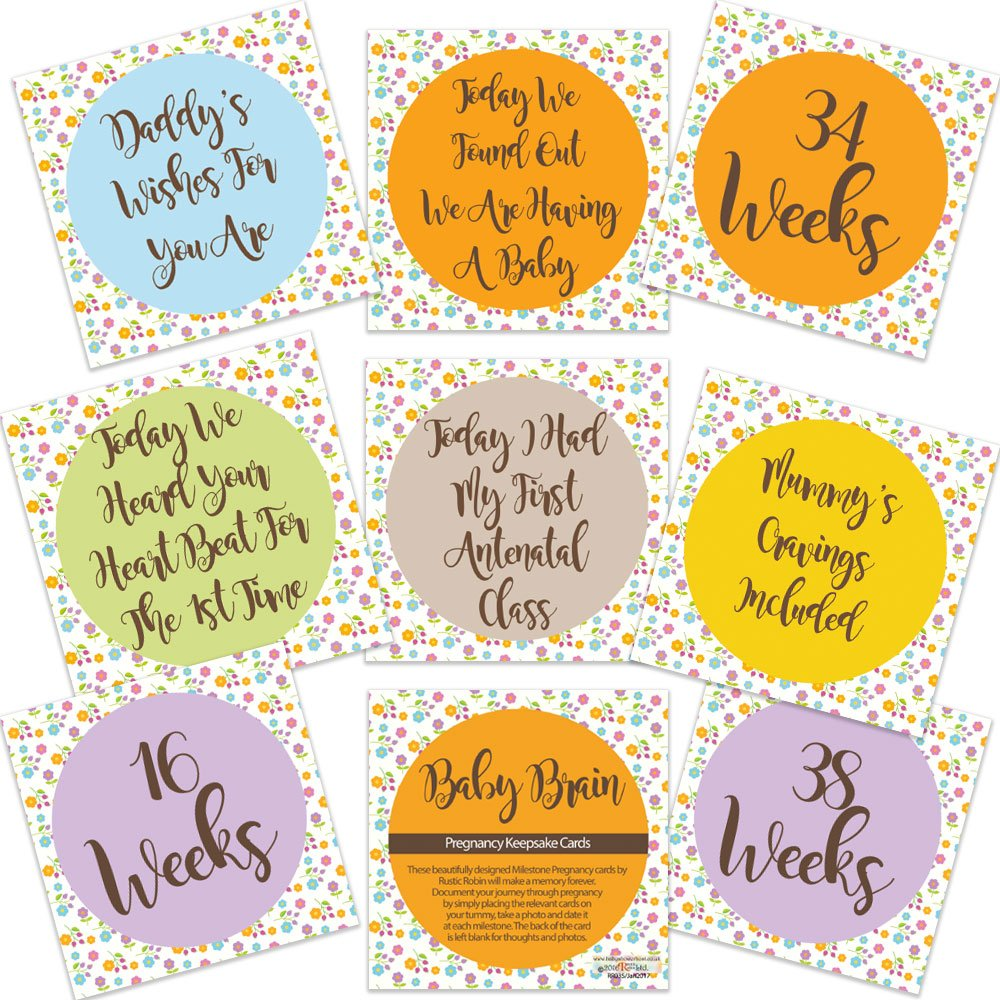Baby Brain Pregnancy Milestone Cards Mum To Be Pregnancy Gifts Free Delivery Rustic Robin