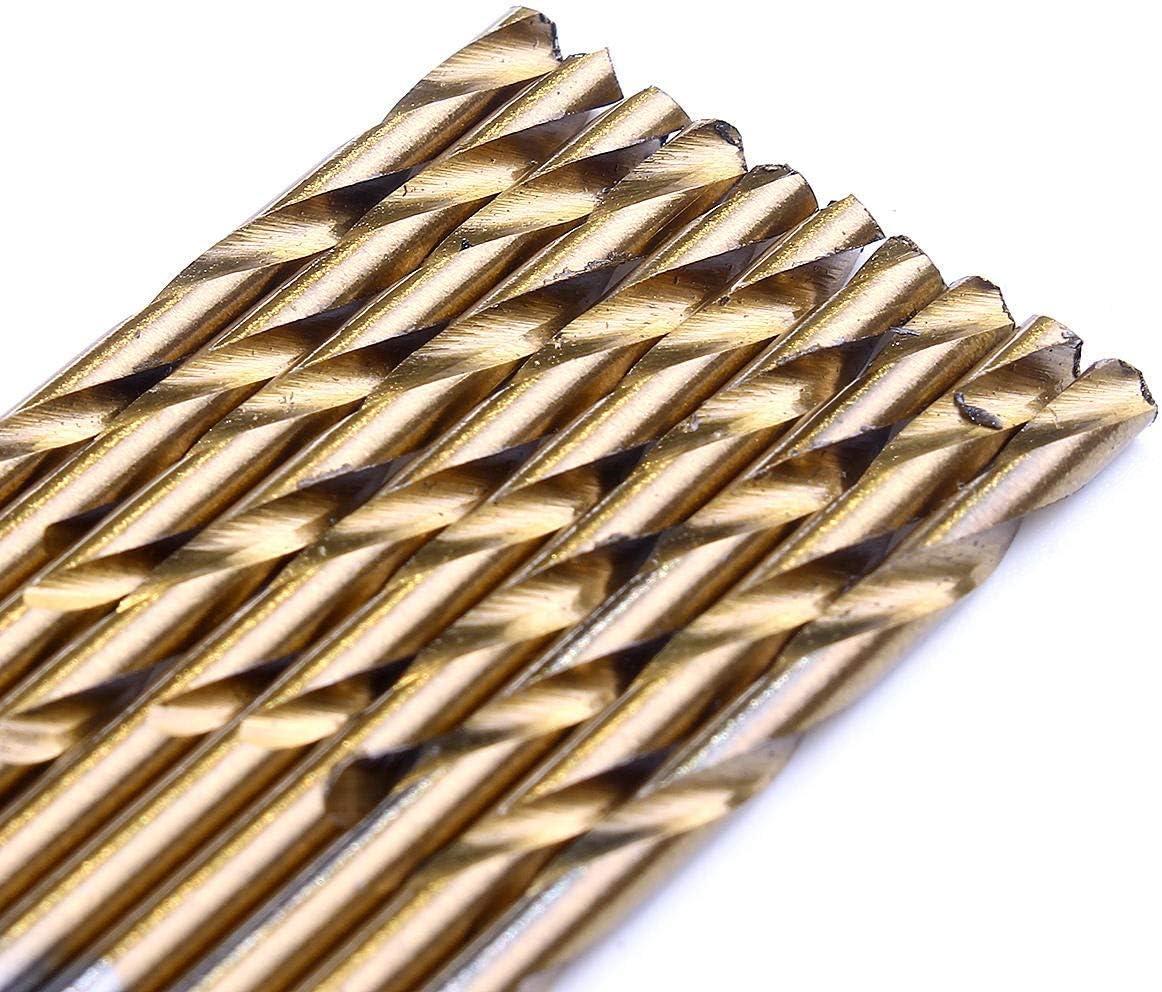 HH-ZZ Industrial Rotary Drill 1.0-3.5mm 55Pcs HSS Twist Drill Bit Set High Speed Steel Titanium Coated Wood Drill Bits Drill Accessories Drill Bits Cutting
