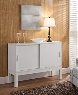 smart home glossy white buffet table