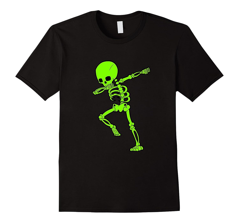 Dabbing Green Skeleton Shirt Dab Skull Hip Hop Pose-SFS