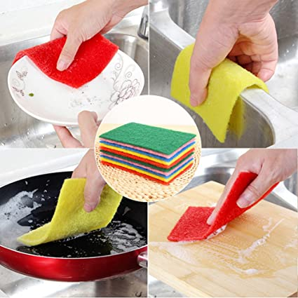 10 unidades de esponja multiusos para estropajo, doble cara, para limpiar platos antiarañazos,