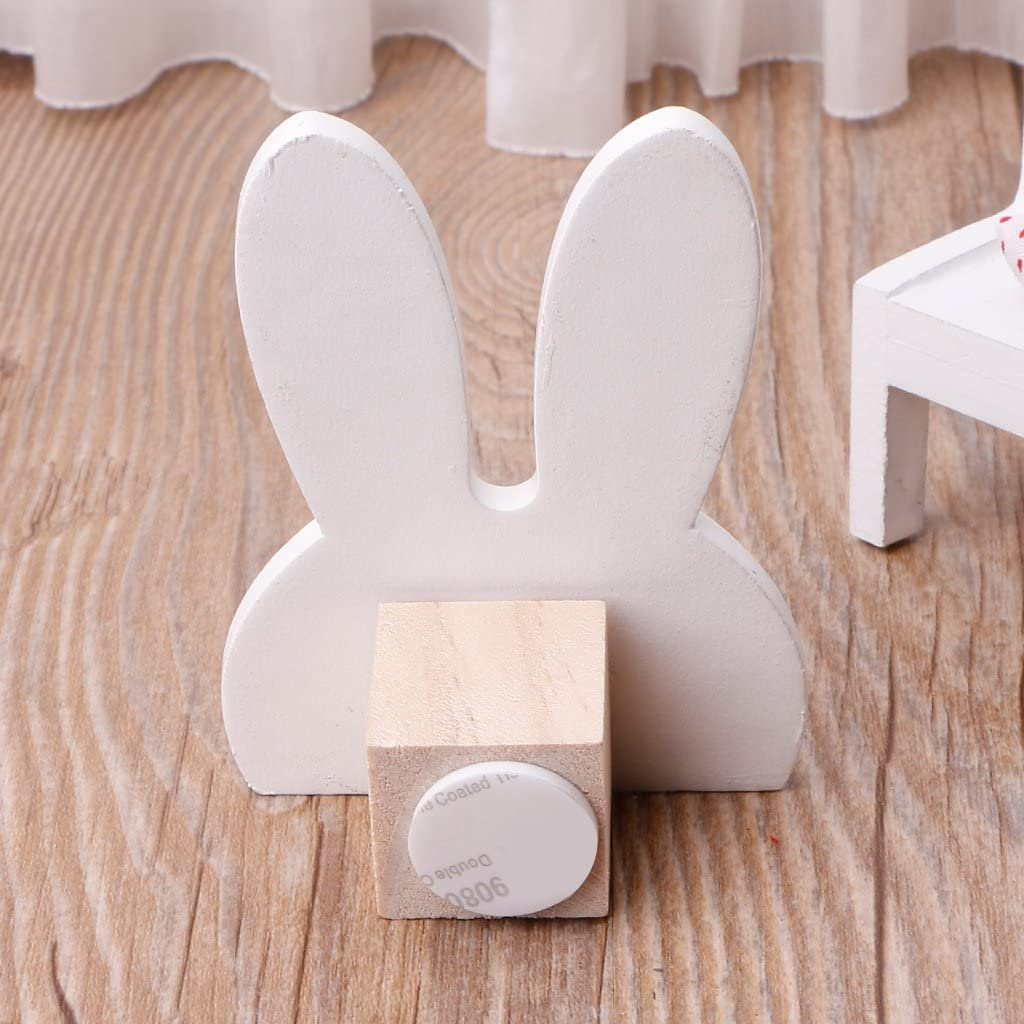 percha de madera para ropa para decoraci/ón de pared para dormitorio de ni/ños Bonito gancho de conejo Huwaioury