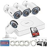 ANNKE Kit de vigilancia 8CH 960P HD PoE NVR simplificado y 4 Cámara IP de seguridad