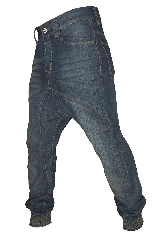 0694df2e6d Emporio Men's Emp Verona Chino Drop Crotch Cuffed Carrot Fit Denim Jeans