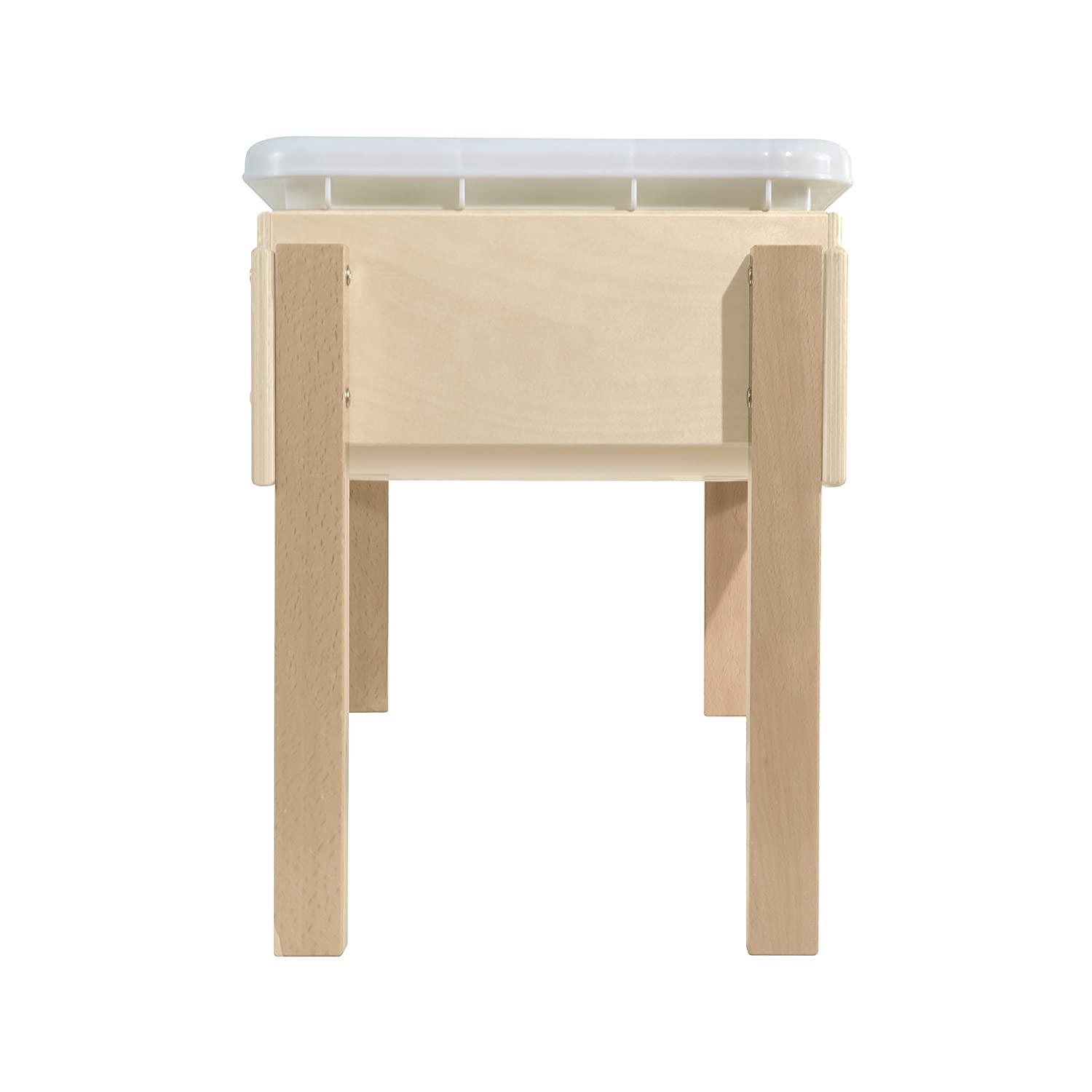 Wood Designs WD11812 Petite Tot Sand and Water Table with Lid, 18 x 28 x 15 H x W x D