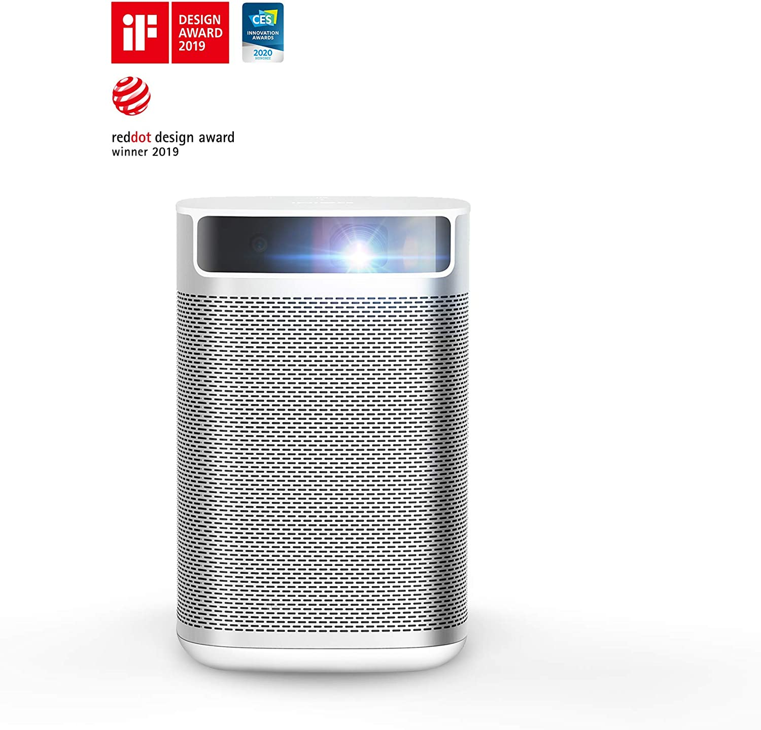 XGIMI MoGo, Smart Mini Portable Projector with Wi-Fi Bluetooth Android TV 9.0 5000+ Native apps, Harman/Kardon Speakers, Indoor & Outdoor Movie TV ...