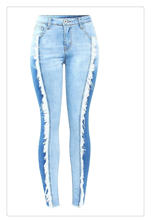 Dmoshibei New ArrivedSpring Plus Size Jeans Denim Skinny Pencil Pants Trousers Women