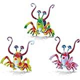 Puzzled Shrimp Refrigerator 3D Bobble Magnet - Ocean Life Theme - Set of 3 - Unique