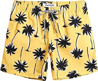"LSAMDIR Mens 7/"" Swim Trunks with Mesh Liner Quick Dry Bathing Suits Printing"