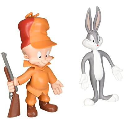 LOONEY TUNES Action Figures Bugs Bunny & Elmer Fudd Bendable Pair lt-4805: Toys & Games