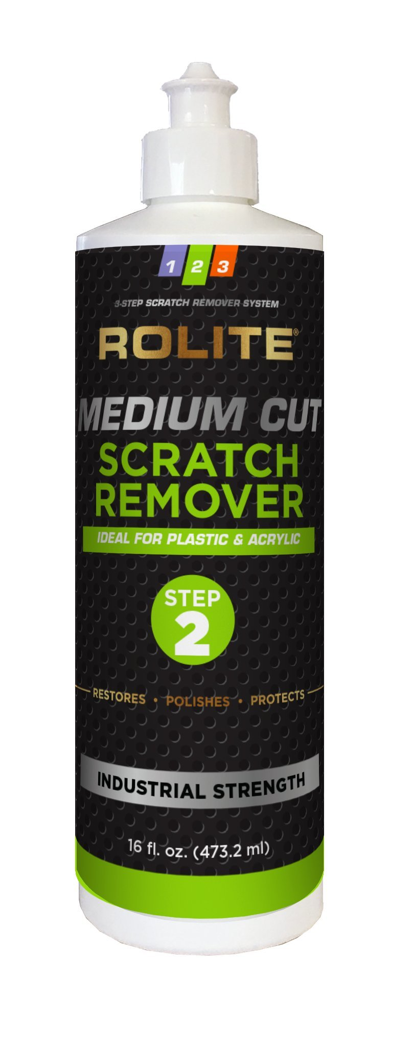 Rolite Medium Cut Scratch Remover (16 fl. oz.) for Plastic & Acrylic Surfaces Including Marine Strataglass & Eisenglass, Headlights, Aquariums