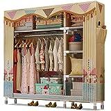 126x46 منظم ملابس خزانة ملابس قماش محمول 126x46