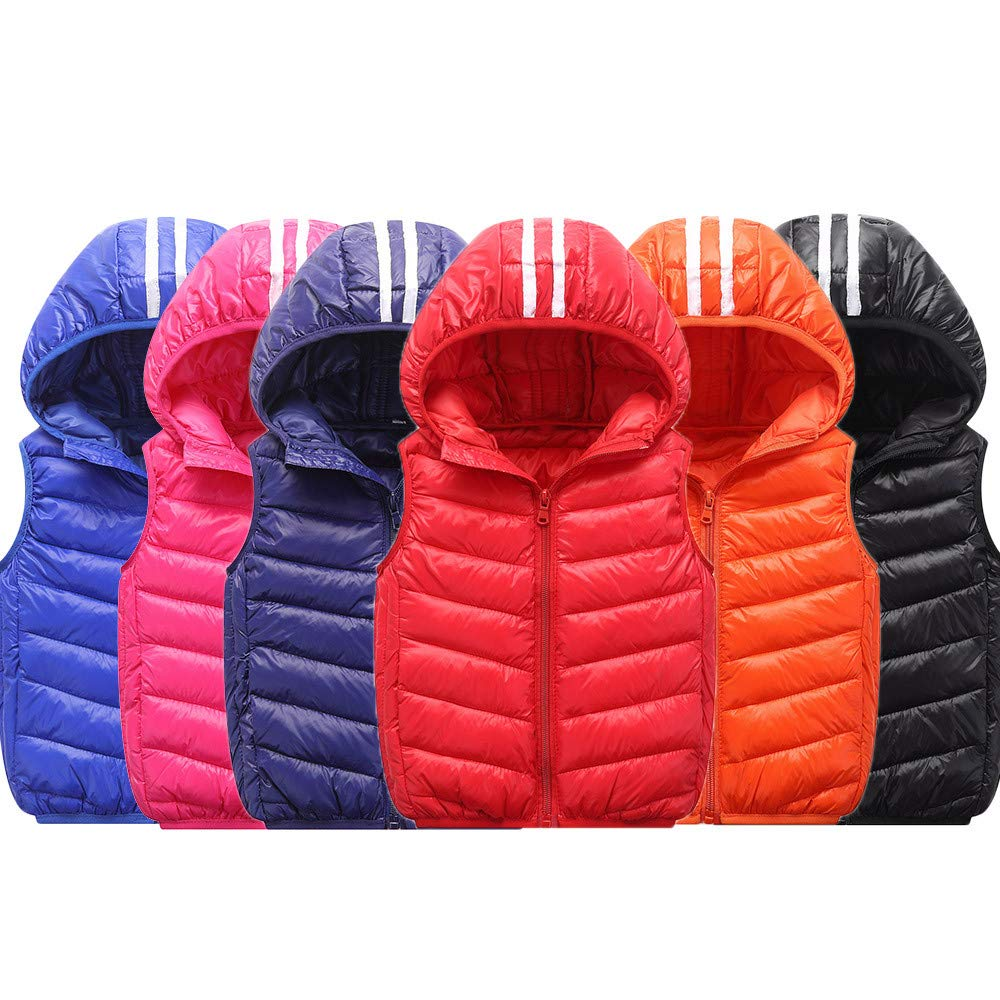 Children Jacket Girl Boys Baby Winter Warm Coats Vest Zipper Thick Hoodie Outerwear