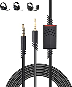 Replacement Astro A10 A40 Cable, 2.0M A40 Inline Mute Cable Cord Compatible with Astro A10/A40 Gaming Headsets Xbox One Ps4 Controller Headphone Audio Extension Cable 6.5 Feet Black