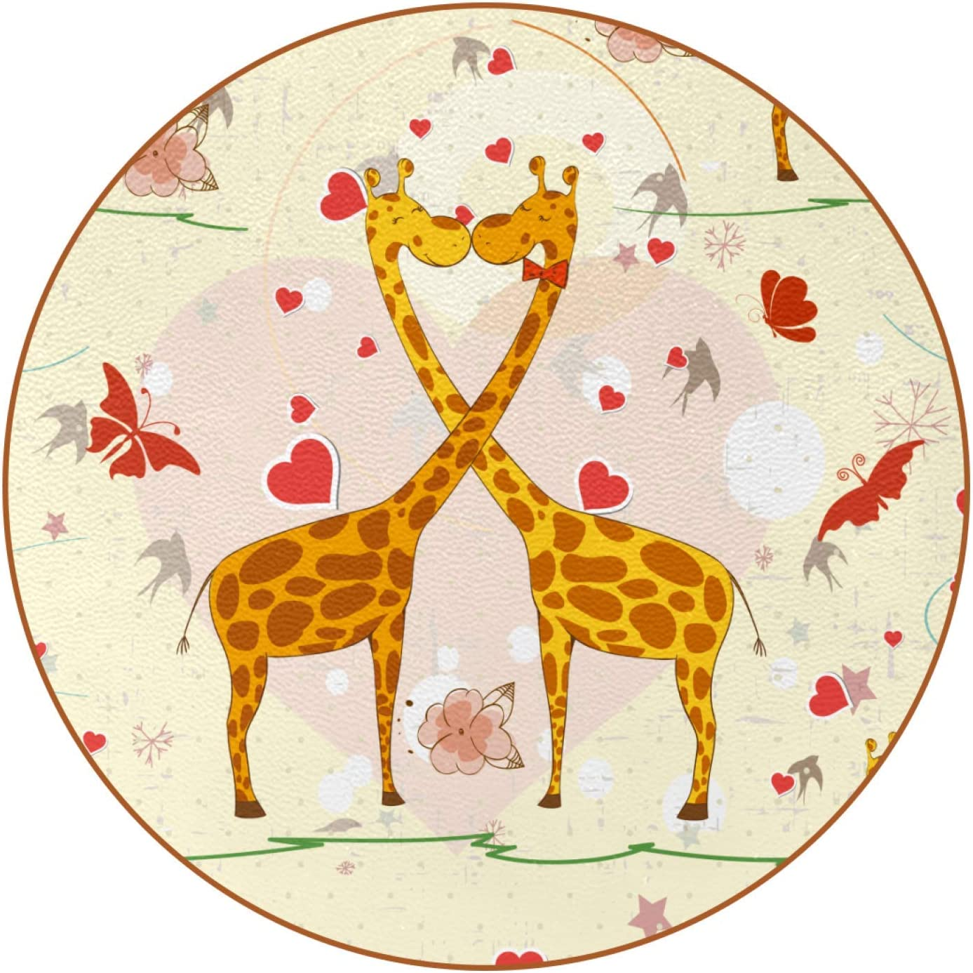 Custom Coasters Giraffe Valentine's Day Drink Coaster (6-Piece Set), Housewarming Hostess Gifts Decor, Wedding Registry, Room Decorations, Customizable Picture and Text 4.3 in