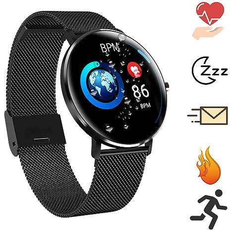 Bluetooth Smartwatch Deportes al Aire Libre Reloj Inteligente Pantalla táctil a Prueba de Agua Sueño y