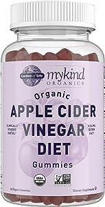 Apple Cider Vinegar Diet Gummies by Garden of Life mykind Organics - Organic ACV Gummy Vitamins with Svetol Green Coffee Bean Extract to Burn Fat - 63 Vegan Non-GMO Gummies for Weight Loss & Detox