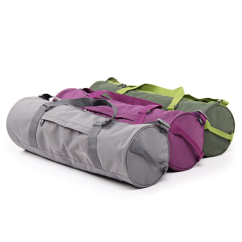 Yogamattentasche mit Schulterband und Handtrageband spritzwasserfest gro/ß /& ger/äumig schiefergrau Yogatasche ASANA CITY BAG