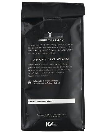 Kicking Horse Coffee Kick Ass Dark Roast Ground 10 Oz Certified Organic Fairtrade Kosher Coffee