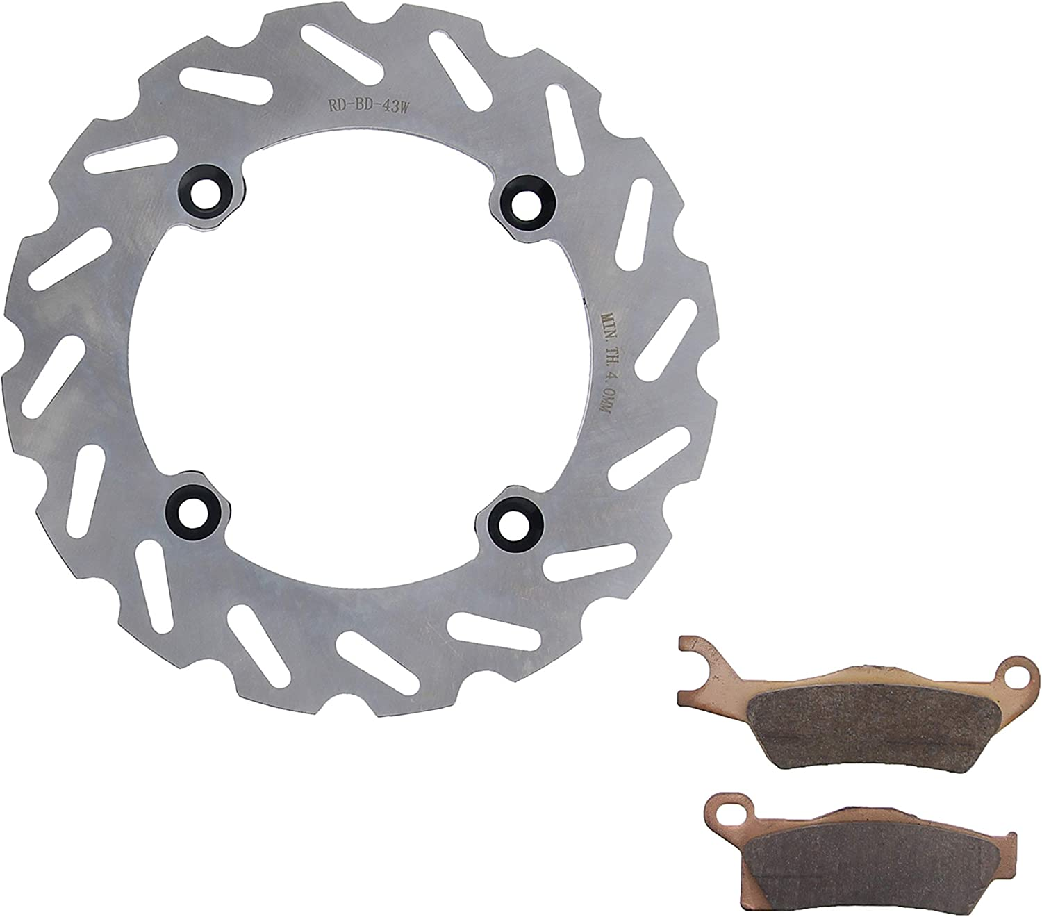 2013-2015 fits Can-Am Outlander Max XT 1000 Rear RipTide Brake Rotor and Brake Pads