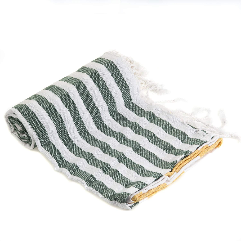 Gute (Set of 6) XXL Turkish Cotton Bath Beach Hammam Turkish Towel Sets Peshtemal Throw Fouta Blanket Set, Luxuries Towels by Gute (Image #8)