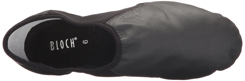 Bloch Dance Womens Neo-Flex Leather and Neoprene Slip On Split Sole Jazz Shoe
