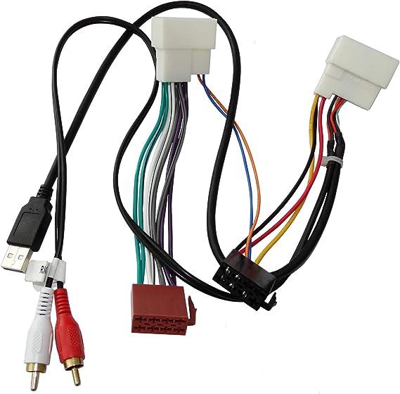 Aerzetix C40120 Adapter Kabel Stecker Iso Usb Rca Für Autoradio Auto
