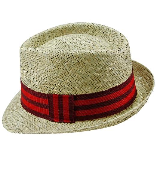 72b24a1e288f6 EveryHead Fiebig Damas Trilby Fedora Sombrero De Paja Verano Playa Gorro  Fiesta Con Banda Acanalada Dos