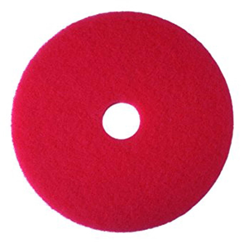 PAD 3M 5 PEZZI Rosso 17 pollici 432 mm per lavapavimenti e monospazzole