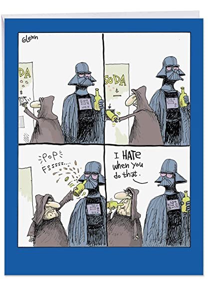 987e134d Giant 8.5 x 11 Inch Happy Dad's Day Card -Star Wars Bottle Opener - Big