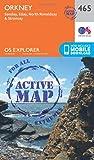 Ordnance Survey Explorer Active 465 Orkney - Sanday, Eday, North Ronaldsay & Stronsay Map With Digital Version