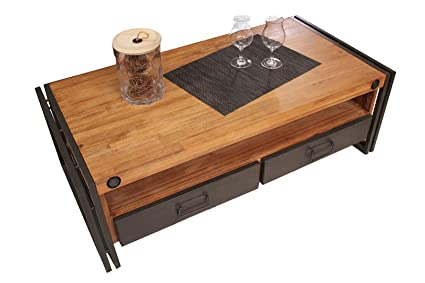 Salon Chyrka Loft Vintage Bar Industriel Table Basse En