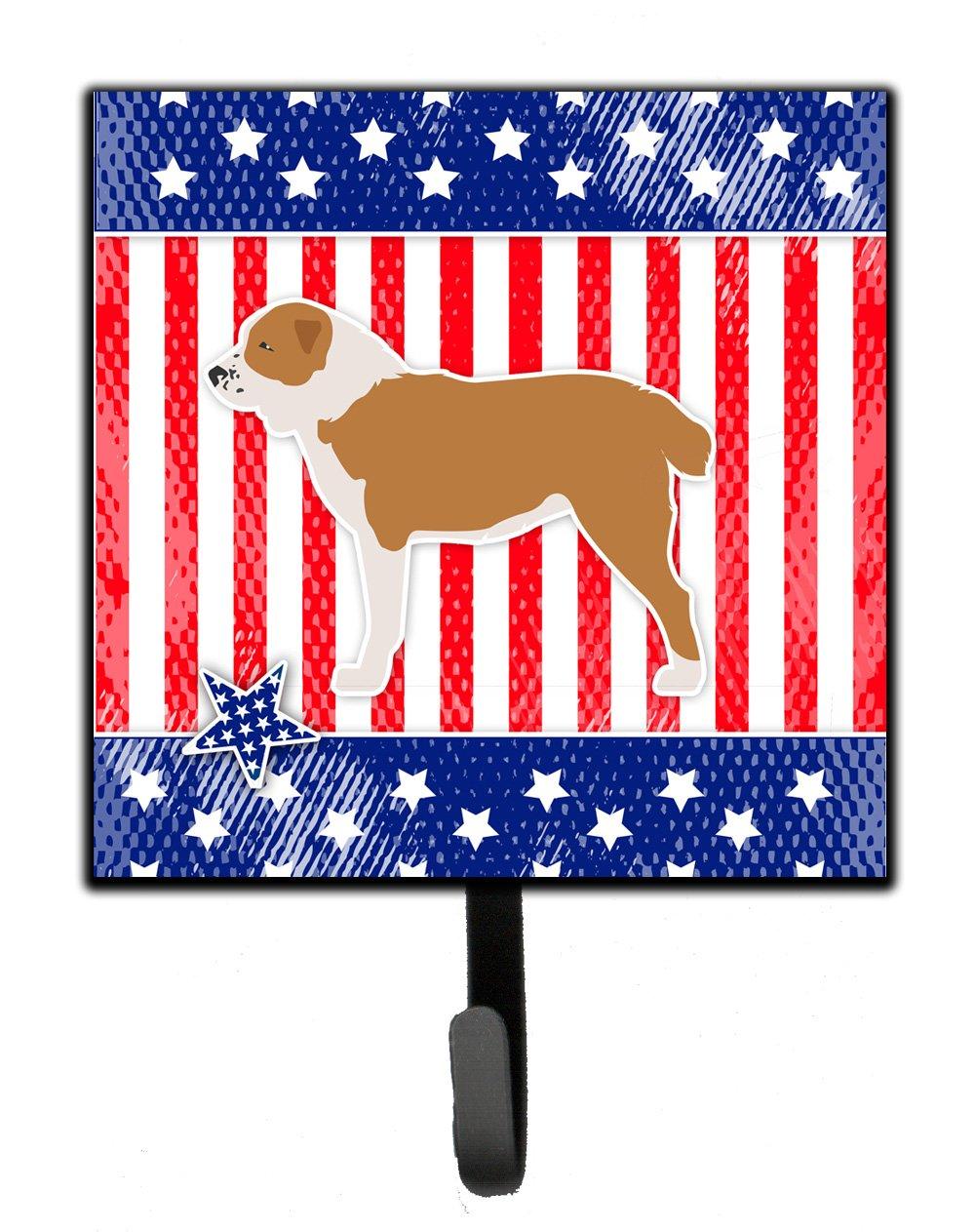 Carolines Treasures USA Patriotic Central Asian Shepherd Dog Leash or Key Holder BB3328SH4 Small Multicolor