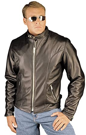 7a5c812cc93e REED Men s Leather Motorcycle Coat Made in USA Black at Amazon Men s ...