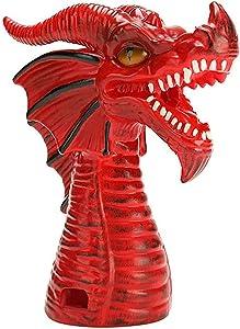 RIYIFER Pot Steam Diverter Dragon, Fire-Breathing Dragon Steam Release Accessory Steam Diverter Pressure Release Valve Pressure Cooker Accessories,Red,8x11in