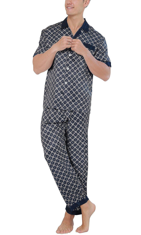 Dolamen Pijamas Para Hombre Algodon Hombre Pantalones De Pijama Largos Primavera Suave Y Suave Hombre Camisones Pijamas De Parejas Collar Con Bolsillo Con Botones