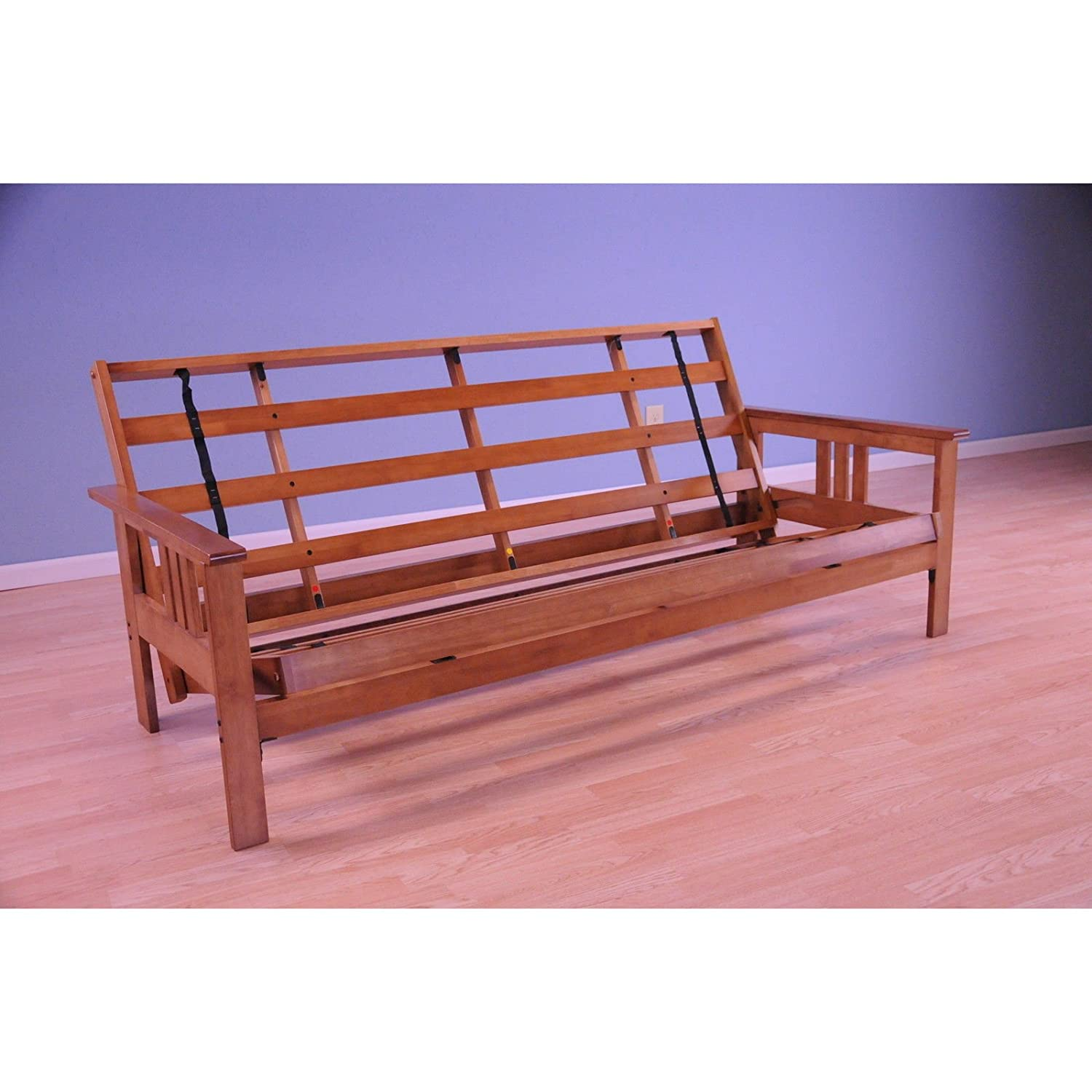 Amazon.com: Monterey Futon Frame in Barbados Finish: Kitchen & Dining