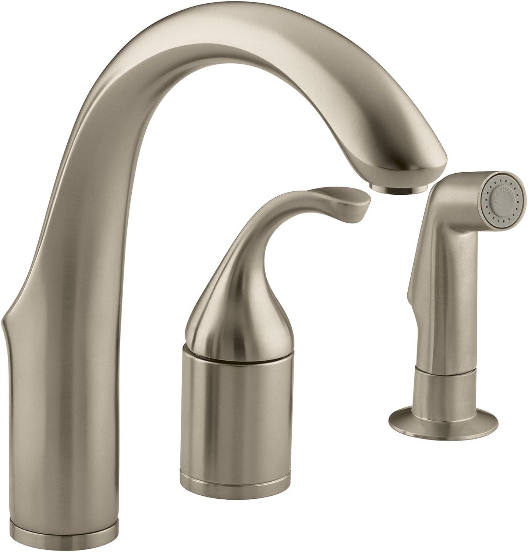 KOHLER K-10441-BV Forte Entertainment Remote Valve Sink Faucet, Vibrant Brushed Bronze
